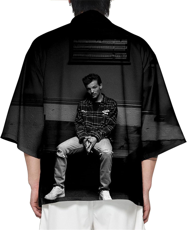 Louis Tomlinson3D Printed Casual Cardigan Robe Long Kimono
