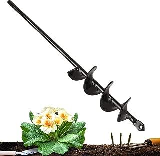 EEEKit Auger Drill Bit, Garden Plant Flower Bulb Auger Rapid Planter Bulb & Bedding Plant Auger for 3/8
