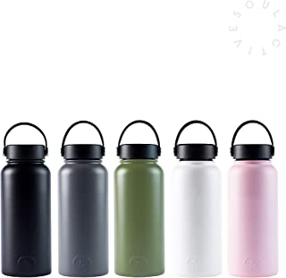 Soul Active | 30oz + 40oz Water Bottle, Double Insulated, Vacuum Sealed, BPA Free, Stainless Steel Sports Water Bottle, Wide Mouth in Multiple Colors and Sizes + Free ICE Cube Sphere | Water Bottle…