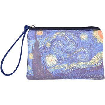 Make Up Bag,Cellphone Bag With Handle Wall Art Pictures Zipper Canvas Coin Purse Wallet