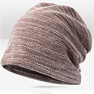 LBLMS Autumn and Winter Headgear Outdoor Warm Knit Hat Nightcap Month Hat Headband Baotou Hat Female Wool Hat (Color : Brown)
