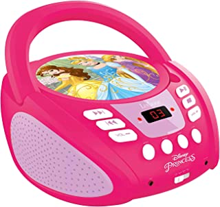 Lexibook Disney Princess CD Player, aux-in Jack, AC or Battery-Operated, Pink/White, RCD108DP_10