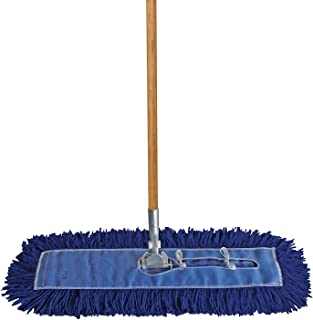 "Dust Mop Kit 60"" : (1) 60"" Blue Industrial Dust Mop, (1) 60"" Wire Dust Mop Frame & (1) Wood Dust Mop Handle"
