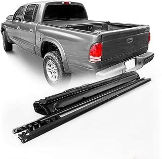 Fits 1997-2004 Dodge Dakota Extended/Standard Cab 78 Inches 6.5 Ft Fleetside Bed Model Black Soft Roll Up Tonneau Cover