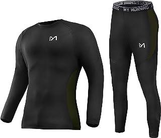 Men'sThermalUnderwearSet,Heavy Weight SportLongJohnsBaseLayer,WinterGearCompressionSuitsforSkiingRunning