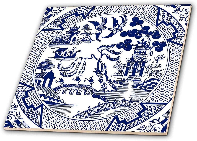 3dpink ct_262242_4 Ceramic Tile, 12 , bluee