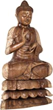 Tibetan Buddhist Large Buddha in Dual-Tone - Wood Statue