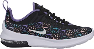 9e3e9c6592 Nike Boy's Air Max Axis Shoe Black/White/Space Purple/Hyper Jade Size