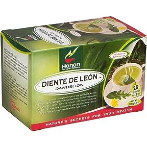 Hanan Dandelion Tea (Diente de León) - 25 Tea Bags of All-Natural Dandelion Leaves and Root from Peru, Detox Tea for Digestive Comfort