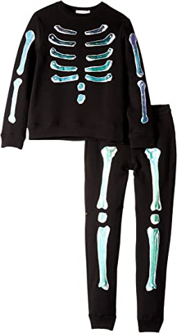 Stella McCartney Kids - Biz + Zachary Holographic Bones Fleece Sweater and Jogger Set (Toddler/Little Kids/Big Kids)