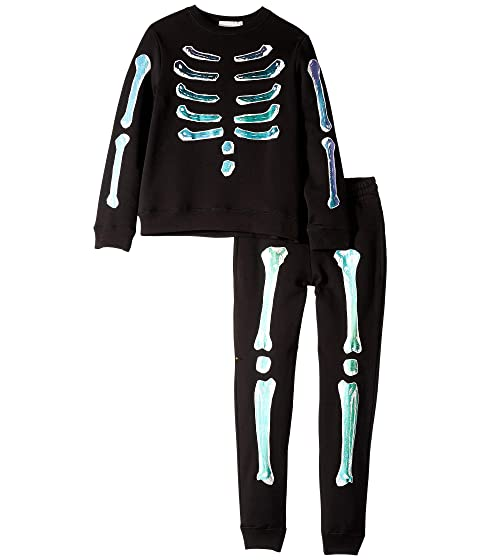 Stella McCartney Kids Biz + Zachary Holographic Bones Fleece Sweater and Jogger Set (Toddler/Little Kids/Big Kids)