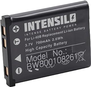 INTENSILO Li Ion Akku 700mAh (3.7V) für Kamera Camcorder Tevion Z1400 wie Li 40, D Li63, NP 80.