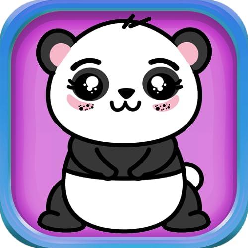 Coloring Book Cute Baby Panda's