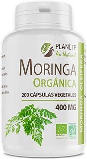 Moringa Oleifera Orgánica - 400mg - 200 cápsulas vegetales