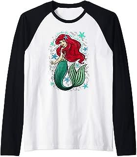 Disney The Little Mermaid Ariel's Song Music Notes Raglan Baseball Tee