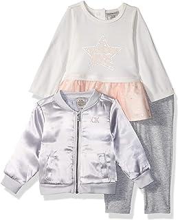 Calvin Klein Baby Girls 3 Pieces Jacket Set