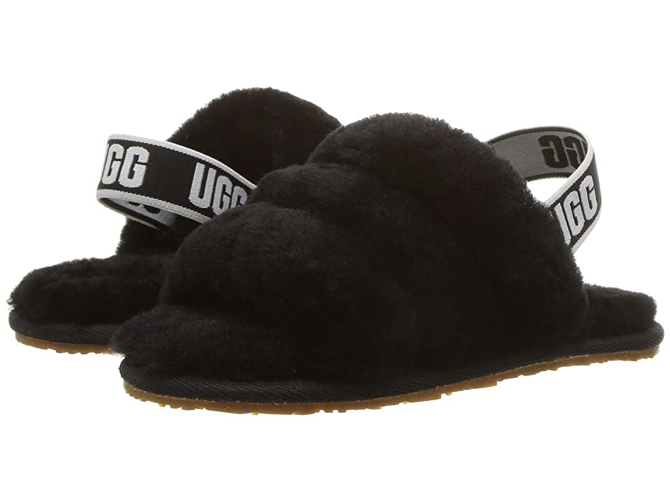UGG Kids Fluff Yeah Slide (Toddler/Little Kid) (Black) Girls Shoes