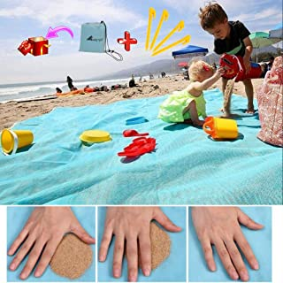 Best ABETER Sand Free Beach Mat Blanket Sand Proof Magic Sandless Sand Dirt & Dust Disappear Fast Dry Easy to Clean Waterproof Rug Avoid Sand Dirt and Grass Keep Everything Clean Review
