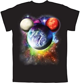 Disney Planet Mickey Mouse Boys T Shirt (Small) Black