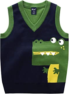 Happy Cherry Baby Boys Vest Thermal Warm Cotton Breathable Knit Sleeveless Sweater