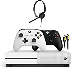 Microsoft Xbox One S 1TB HDD with Two Wireless Controllers Black and White (Previous Model), 1-Month Game Pass Trial, 14-D...