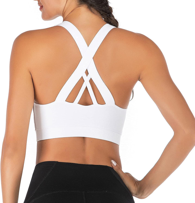 PEACHGOGO Sports Bra for Women Bras Womens Max 64% OFF - Strappy famous Back