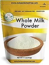 Judee's Whole Milk Powder (11 Oz): NonGMO, rBST Hormone Free, USA Made, Pantry..