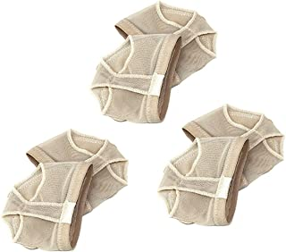Tinksky 3 Pair Ballet Belly Dance Forefoot Pads Foot Thongs Dance Paw- Size S