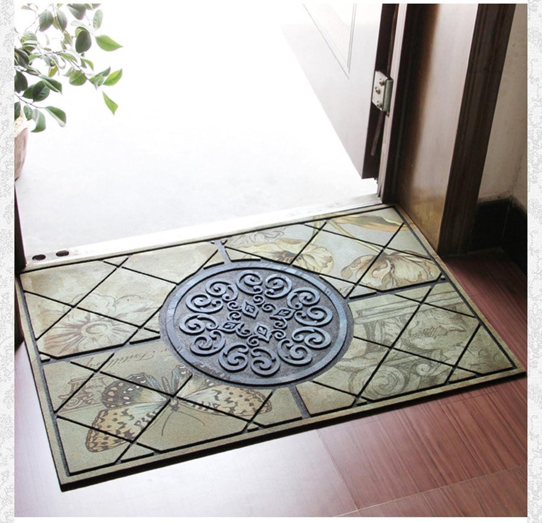 Aik@ Antifouling Easy Clean Doormat,Absorbent Non-Slip Rubber Carpet Entrance Mat-I 58x88cm(23x35inch)