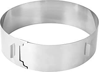 Zenker 7708 Cercle à pâtisserie, cercle de pâtisserie extensible XXL, cercle à pâtisserie réglable bords hauts, Acier inox...