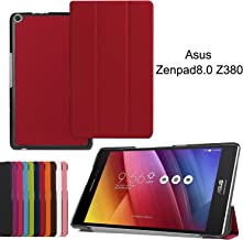 Asng ASUS ZenPad 8.0 Z380M Case, Ultra Slim Lightweight Standing Cover for ASUS ZenPad 8.0 Z380M, Z380C, Z380CX, Z380KL 8 Inch Tablet (Red)