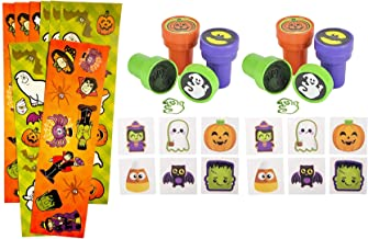 216 Piece Halloween Party Favor Set- Stampers, Stickers, and Tattoos