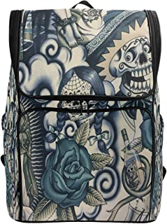 Frida Kahlo Laptop Backpack Casual Travel Daypack Computer Backpacks Women Men