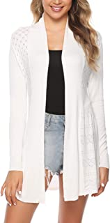 Womens Casual Long Sleeve Open Front Cardigan Knit Sweater