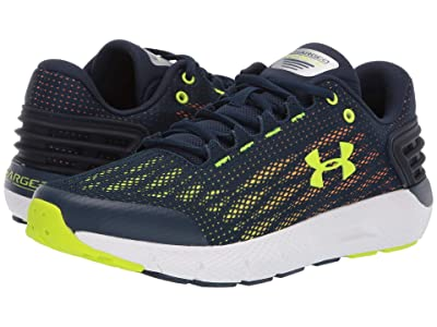 Under Armour Kids UA BGS Charged Rogue (Big Kid) (Academy/White/High-Vis Yellow) Boys Shoes