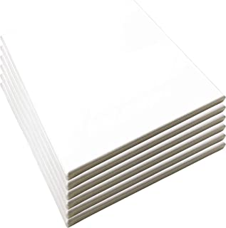 "LWR CRAFTS Stretched Canvas 10"" X 10"" Pack of 6"
