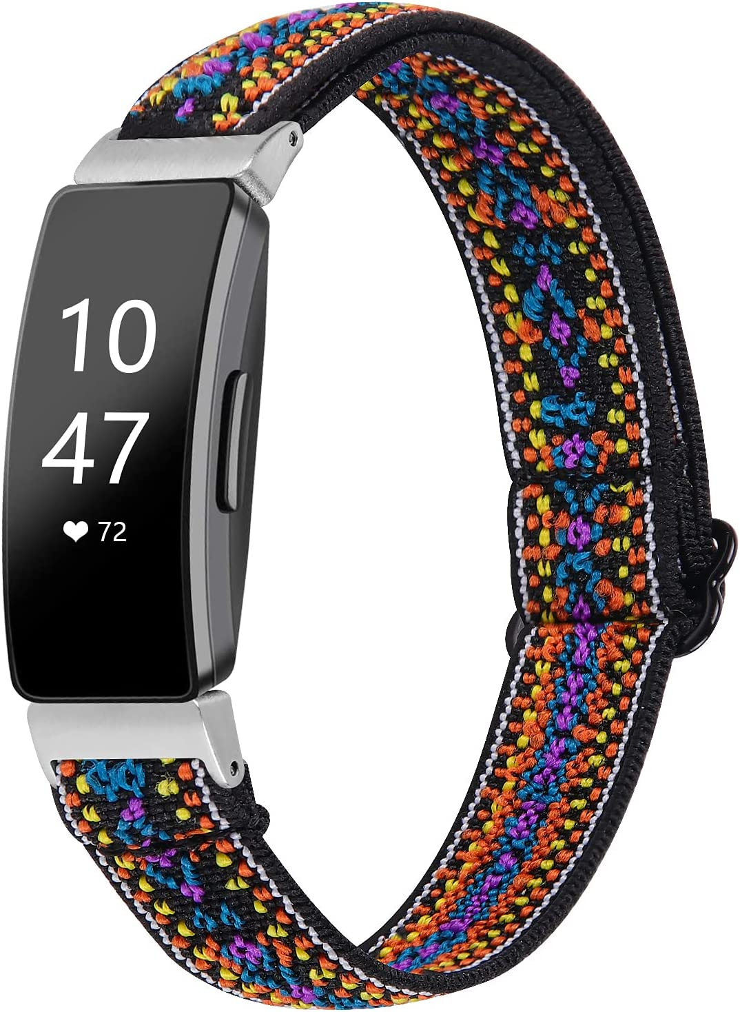 HAYUL Elastic Bands Compatible with Fitbit Inspire 2/ Inspire/Inspire HR for Women Men, Stretchy Fabric Soft Nylon Loop Band for Inspire Fitness Tracker, Skin-Friendly Replacement Wristband Accessory
