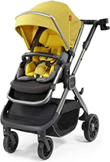 Diono Quantum2, 3-in-1 Luxury Multi-Mode Stroller, Yellow Sulphur Linear