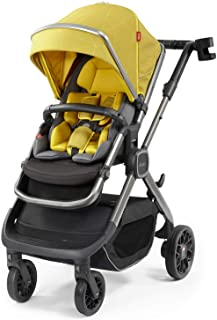 Diono Quantum2, 3-in-1 Luxury Multi-Mode Stroller, Yellow Sulphur Linear (72302)
