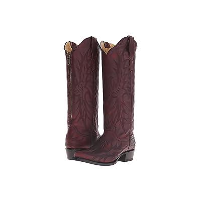 Stetson Violet (Burgundy Vamp) Cowboy Boots