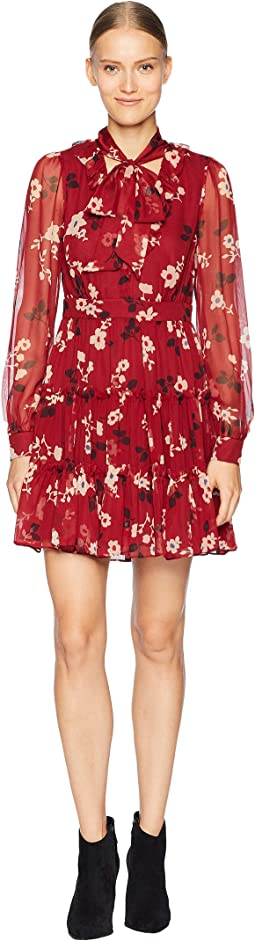So Foxy Camelia Chiffon Mini Dress
