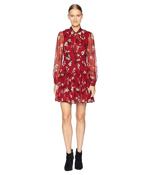 Kate Spade New York So Foxy Camelia Chiffon Mini Dress