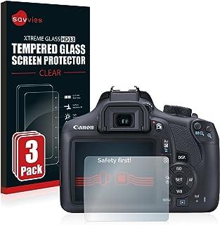 savvies Cristal Templado Compatible con Canon EOS 1300D (3