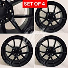 18 inch x 9 Wheels Rims Matte Black Compatible with BMW 3 SERIES F30 F32 Bolt Pattern 5x120 Set of 4