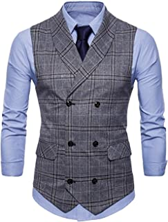 Men's Vest Tuxedo Waistcoat Fit Suit Wedding Slim Modern Casual Vest Business Blazer Men's Suit Men Blazer Vest Leisure