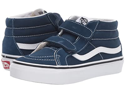 Vans Kids SK8-Mid Reissue V (Little Kid/Big Kid) (Gibraltar Sea/True White) Boys Shoes
