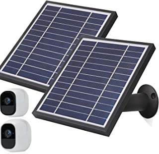iTODOS Solar Panel Compatible with Arlo Pro and Arlo Pro 2, 11.8Ft Outdoor Power Charging Cable and Adjustable Mount,Not f...