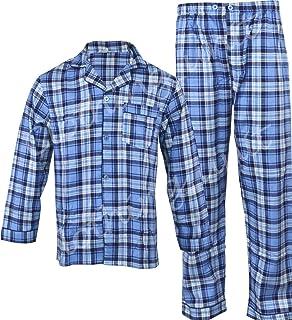 New Mens Traditional Flannel Cotton Pyjamas Set Sleeping Night Gift PJ