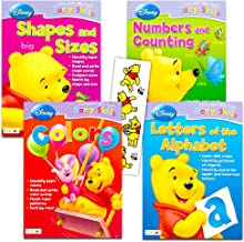 Disney Workbooks for Preschoolers -- Set of 4 Winnie the Pooh Workbooks and Over 100 Winnie the Pooh Stickers (Alphabet, Numbers, Shapes and Colors)