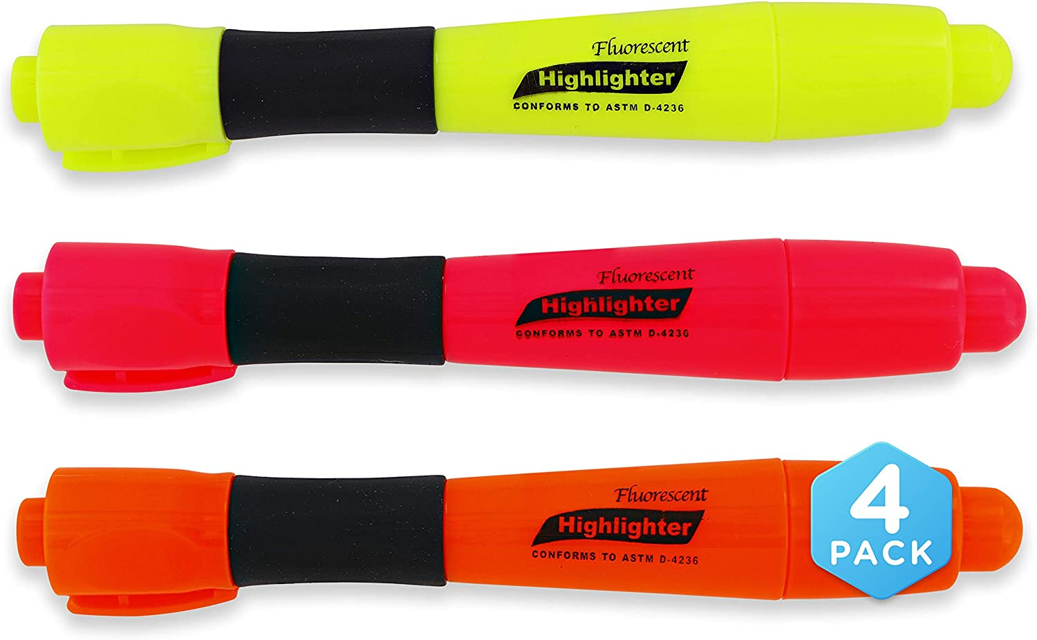 Fluorescent 3 Colors Desk Style Pe Grip Highlighter with NEW before selling ☆ Cushion New product! New type